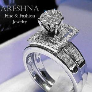1.2ct Diamond cz Engagement 2 Ring Set